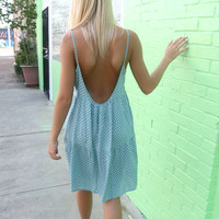 Off The Shore Printed Sage Tier Tank Dress