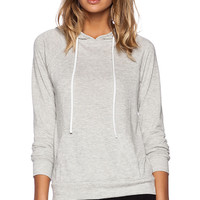 MERRITT CHARLES Honey Hoodie in Light Gray