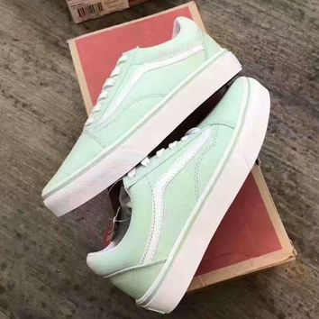 Vans Mint green Classic Canvas Leisure Shoes
