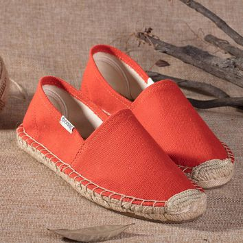 Soludos Women Orange Platform Smoking Slipper