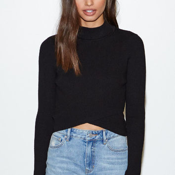 Kendall and Kylie Crossover Ribbed Sweater Top at PacSun.com