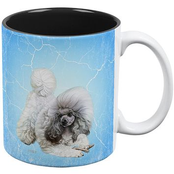 Poodle Live Forever All Over Coffee Mug