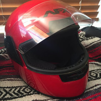 AFX FX-2 Motorcycle Full Face Street Helmet Solid Red Safety Dot Used