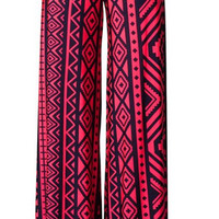 Inca Moon Palazzo Pants - Pink and Navy