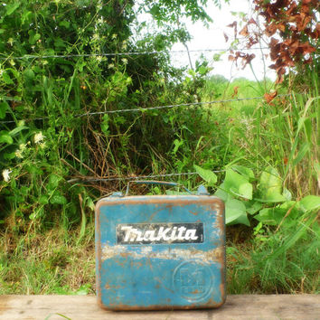 Vintage Makita Metal Box || Rusty Blue Drill Case