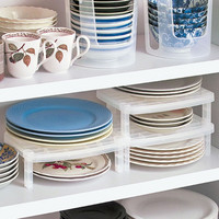 Portable Plate Storage Dish Rack Kitchen Organizer
