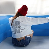 Tumblr Letters Casual Thin Sweatshirts  Long Sleeve Harajuku Loose Hoodies