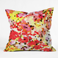 Rosie Brown Blooms Outdoor Throw Pillow