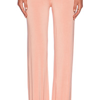 Michael Lauren Derby Wide Leg Pant in Peach