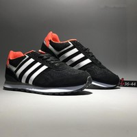 """""""Adidas Neo"""" Unisex Sport Casual Fashion Multicolor Stripe Retro Breathable Sneakers Couple Running Shoes"""