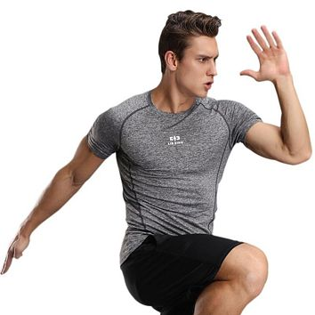 New Bohemian  Men's T-Shirt Short Sleeve Round Neck Fitness Tights Breathable Casual Men's T-Shirt W1