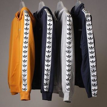 NOV9O2 Adidas Tnt Tape Embroidery Logo Top Sweater Pullover Hoodie