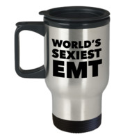 World's Sexiest EMT Travel Mug Stainless Steel Insulated Coffee Cup