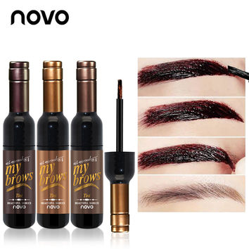 NOVO Brand Eye Makeup Red Wine Eye Brow Tattoo Tint Long-lasting Waterproof Dye Eyebrow Gel Cream Mascara Make Up Cosmetics