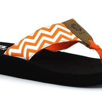 Yellow Box Girl's Yulisa Orange Flip Flops