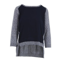 French Connection Womens Knit Panel Pullover Sweater