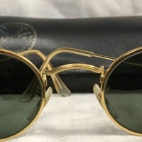 Vintage Ray Ban Rayban Bausch & Lomb B 15 Oval Arista Sunglasses Gold