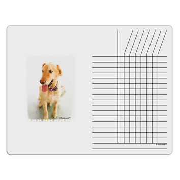 Golden Retriever Watercolor Chore List Grid Dry Erase Board