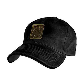 Nirvana Men's  Metal Badge Baseball Cap Black