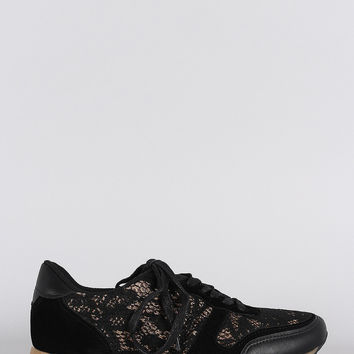 Dollhouse Lace Round Toe Sneaker