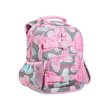 Mackenzie Gray Butterfly Backpacks | Pottery Barn Kids