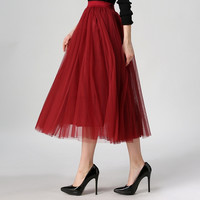autumn new fashion faldas korean style 8 m big swing maxi skirts womens winter jupe high waist tutu adult long tulle skirt
