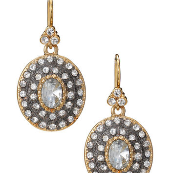 Pave-Encrusted Gold & Metal Drop Earrings | Neeya Drop Earrings | Stella & Dot