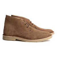 Suede desert boots - from H&M