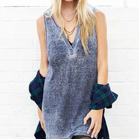 Project Social T Burnout Henley Tank Top-