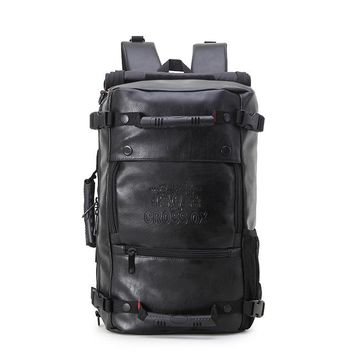 High Quality Ethical Vegan Leather Backpack BLACK