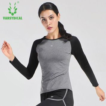 Women's T-shirt Fitness T Shirt Women Long Sleeve Running Shirt Elastic Sport Clothes Ladies Yoga T-shirt Sportswear Gym Tops