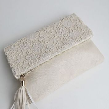 An Evening With You Clutch In Cream