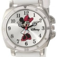 Disney Kids' MN1064 Minnie Mouse White Rubber Strap Watch:Amazon:Watches