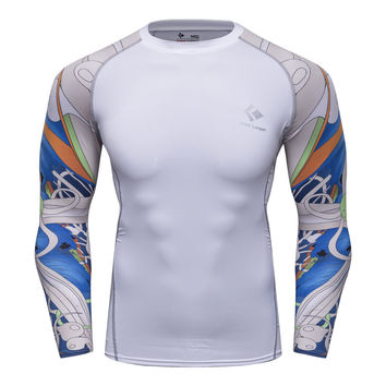 Digital Printing Men Long Sleeve Thermal T Shirt Tights  - Hot Product - Different Colors and Sizes