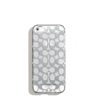 Coach :: Iphone 5 Case In Metallic Signature Print
