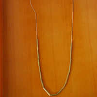 Brass Tubing and Gold Fill Necklace