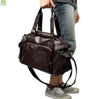 New Fashion Multifunction Mens PU leather  Travel Bags Brand Waterproof Vintage men messenger bags high quality shoulder bags