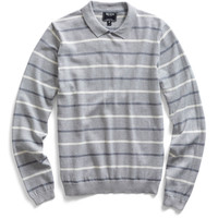 Grey Crew Polo Collar Sweater