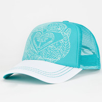 Roxy Truckin Womens Trucker Hat Light Green One Size For Women 25568552001