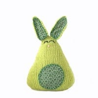Handmade Knit Lime Green Easter Bunny