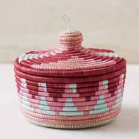Indego Africa Marrakech Lidded Basket- Purple One