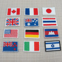 Iron on patches. flag patches ( small )