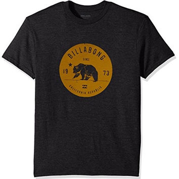 Billabong Mens - Grizzly California Tee | Black Heather