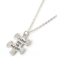 Special I love you to pieces necklace-gift promo