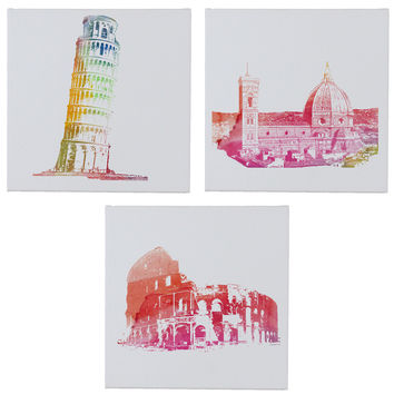 ItalyWall Canvases - Set of 3