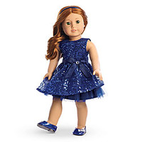 American Girl® Clothing: Happy Holiday Dress for Dolls + Charm