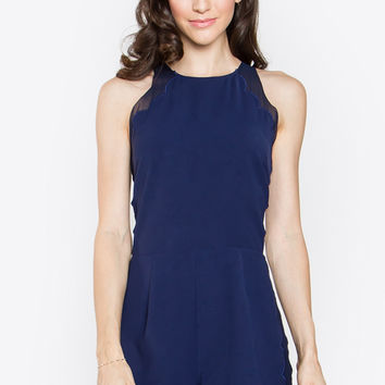 IN THE NAVY SCALLOPS ROMPER