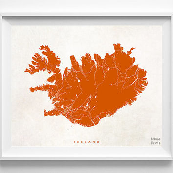 Iceland Map, Iceland Print, Iceland Poster, Map Print, Street Map, Europe, Map Decor, Baby Room Decor, Room Wall Art, Halloween Decor