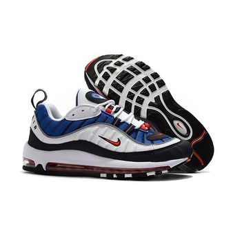 Nike Air Max 98 Gundam White University Red-Obsidian-Metallic Si a6288e238139