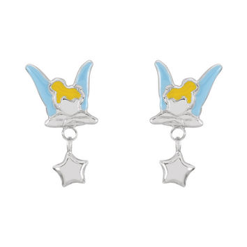 Sterling Silver Tinkerbell Earrings with Enamel